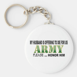 Army Husband Honor Keychains