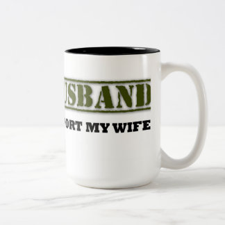 Army husband Two-Tone coffee mug