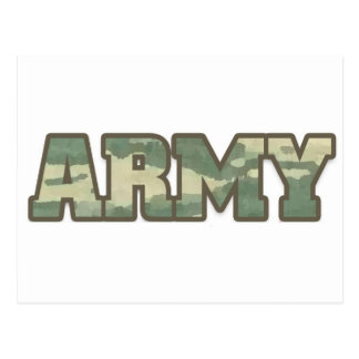 Army in camo postcard