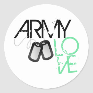 Army Love Classic Round Sticker