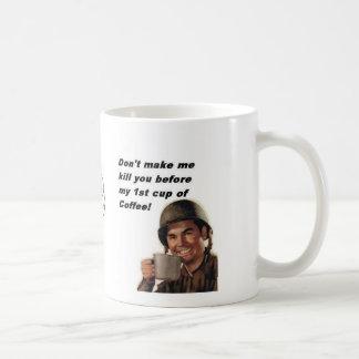 army man coffee, air assualt logo basic white mug