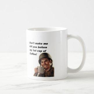 army man coffee, Ranger Hooah! Basic White Mug
