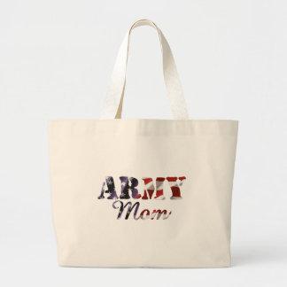 Army Mom American Flag Canvas Bag