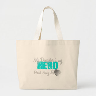 Army Mom Daughter is my Hero Canvas Bags
