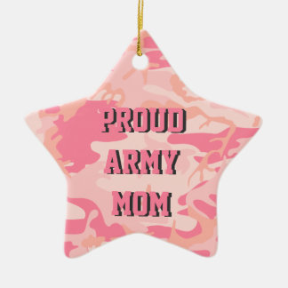 Army Mom | Pink Camo Custom Name Double-Sided Ceramic Ornament