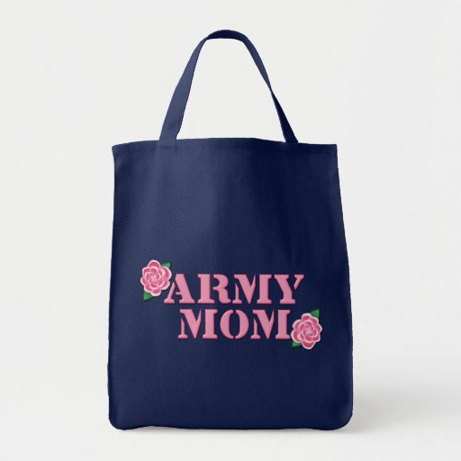 Army Mom Pink Roses Tote Bag
