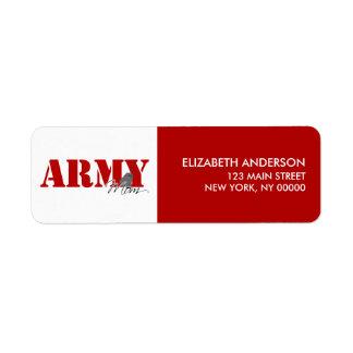 Army Mom Return Address Labels