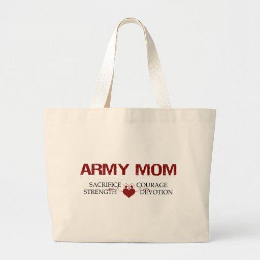 Army Mom Sacrifice, Strength, Courage Tote Bag