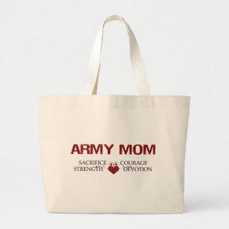 Army Mom Sacrifice, Strength, Courage Jumbo Tote Bag