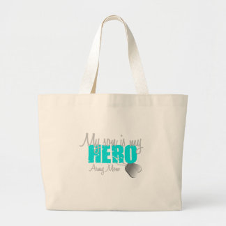 Army Mom Son is my Hero Canvas Bags