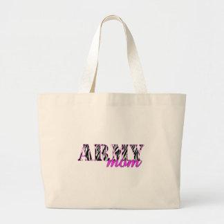 Army Mom Zebra Large Tote Bag