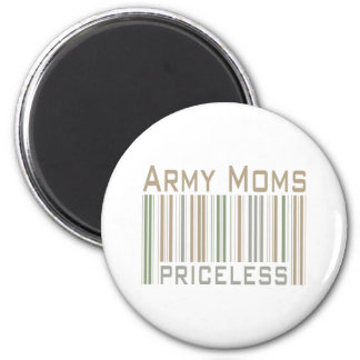 Army Moms 2 Inch Round Magnet