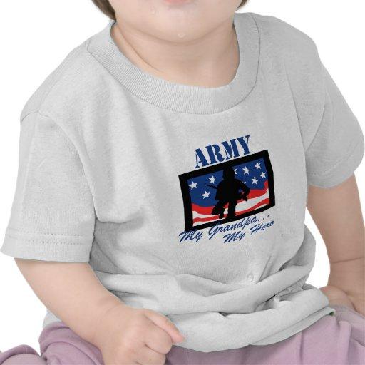 Army My Grandpa My Hero T Shirts