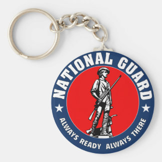 Army National Guard Military Logo Keychain