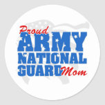 Army National Guard Mom Round Sticker