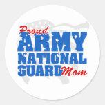 Army National Guard Mom Round Sticker
