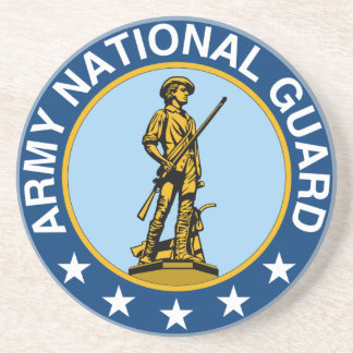 Army National Guard Slogan Always Ready Beverage Coaster