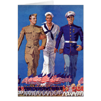Army, Navy & Marines Card