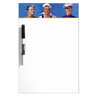 Army, Navy & Marines Dry-Erase Board