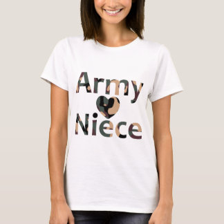 Army Niece Heart Camo T-Shirt