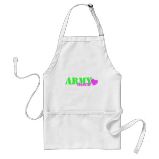 Army Niece Lime Green Heart Standard Apron