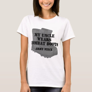 Army Niece Uncle Combat Boots T-Shirt