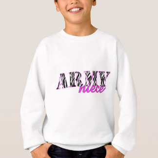 Army Niece Zebra Sweatshirt