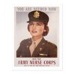 Army Nurse Corp Recruiting Postcard