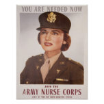 Army Nurse Corp Recruiting Print