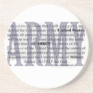Army Oath coasters