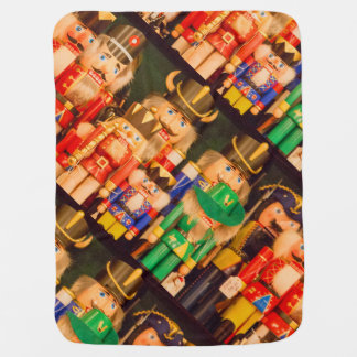 Army of Christmas Nutcrackers Baby Blanket