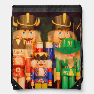 Army of Christmas Nutcrackers Drawstring Bag