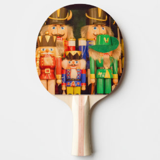 Army of Christmas Nutcrackers Ping-Pong Paddle