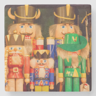 Army of Christmas Nutcrackers Stone Coaster