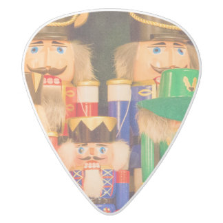 Army of Christmas Nutcrackers White Delrin Guitar Pick
