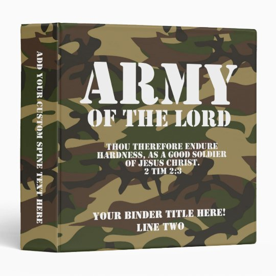 Army of the Lord Vinyl Binder