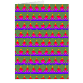 Army of Zen Greeting Card - Green