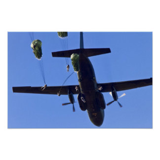 Army Paratroopers Poster