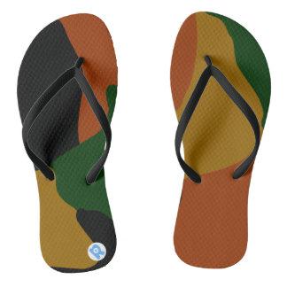 Army Print Flip Flops
