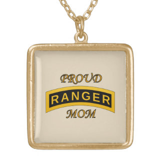 Army Ranger School Tab - Proud Mom - Necklace