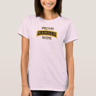 Army Ranger School Tab - Proud Wife - T-Shirt