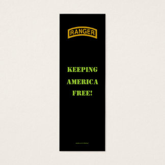 Army rangers 75th flash veteran patch bookmarker mini business card
