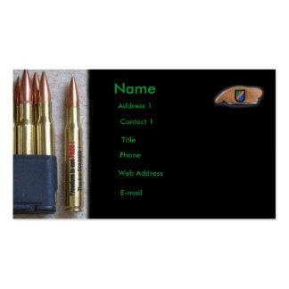 army rangers iraq vfw vet  Business Card GI nra