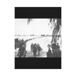 Army reinforcements disembarking from_War Image Canvas Print