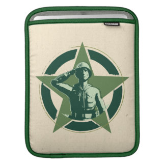 Army Sarge Salutes iPad Sleeve