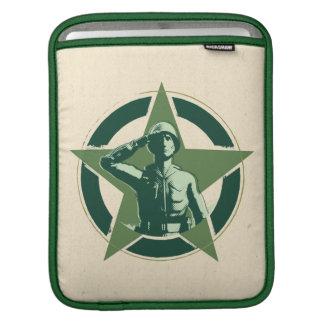 Army Sarge Salutes iPad Sleeves