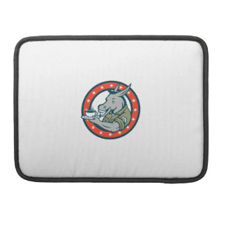 Army Sergeant Donkey Coffee Circle Cartoon Sleeve For MacBooks