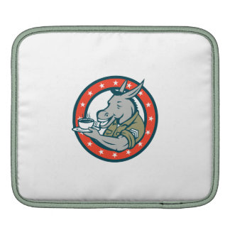 Army Sergeant Donkey Coffee Circle Cartoon Sleeves For iPads