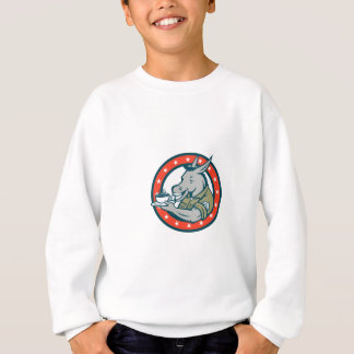 Army Sergeant Donkey Coffee Circle Cartoon Sweatshirt