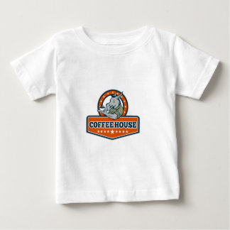 Army Sergeant Donkey Coffee House Cartoon Baby T-Shirt